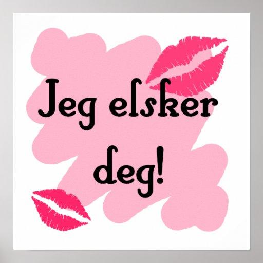 Jeg elsker deg - Norwegian I love you Poster