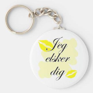Jeg elsker dig  - Danish - I Love You Keychain