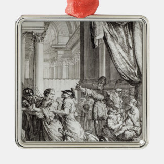 Jehoiada, High Priest of Jerusalem Proclaiming Metal Ornament