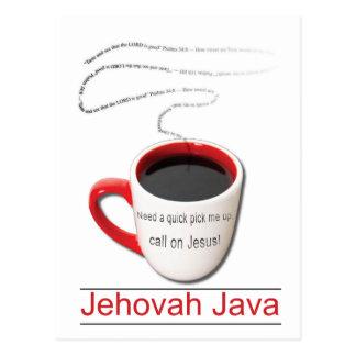 Jehová Java Tarjeta Postal