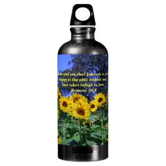 Jehovah, God, is Good Romans 34:8 Aluminum Water Bottle