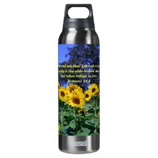 Jehovah, God, is Good Romans 34:8 Thermos Bottle