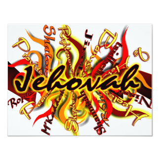 Jehovah 4.25x5.5 Paper Invitation Card