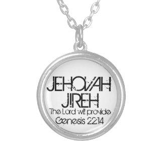 Jehovah Jireh bible verse Genesis 22:14 Round Pendant Necklace