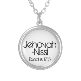 Jehovah-Nissi (the Lord is my banner) bible verse Silver Plated Necklace