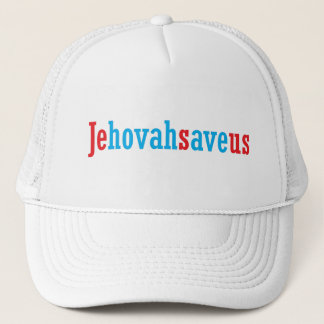 Jehovah save us trucker hat