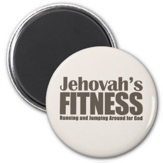 Jehovah's Fitness 2 Inch Round Magnet
