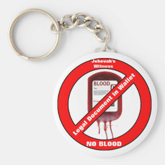 Jehovah's Witness No Blood Keychain