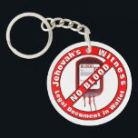 """Jehovah&#39;s Witness - No Blood Keychain<br><div class=""""desc"""">In order to obey what the Bible commands,  this key chain,  can be a valuable tool,  in case you are incapacitated. This two sided key chain,  can also be found,  at the same Zazzle store,  with one side setup to carry emergency information,  or allergies text.</div>"""