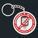 "Jehovah&#39;s Witness - No Blood Keychain<br><div class=""desc"">In order to obey what the Bible commands,  this key chain,  can be a valuable tool,  in case you are incapacitated. This two sided key chain,  can also be found,  at the same Zazzle store,  with one side setup to carry emergency information,  or allergies text.</div>"