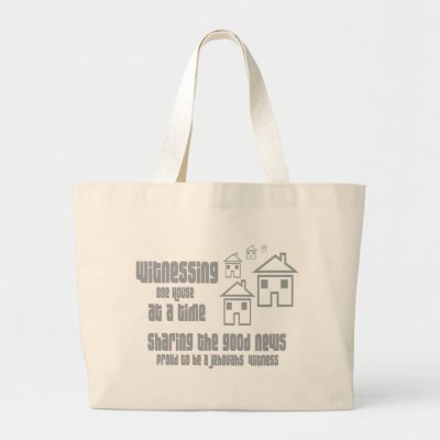 Jehovahs Witness Witnessing Tote Bags by Jehovahs_Witness