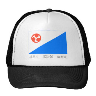 Jeju-do Flag with Name Trucker Hats