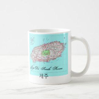 Jeju hace la taza de la Corea del Sur