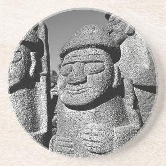 Jeju Stone Grandfather Statues Harubang coaster