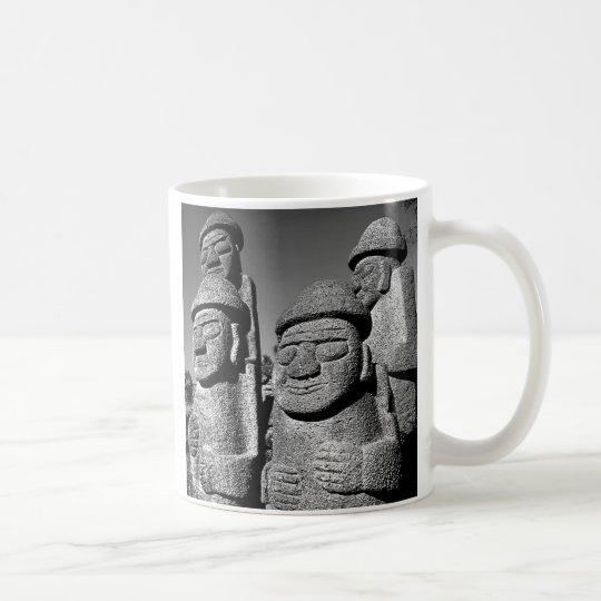 Jeju Stone Grandfather Statues Harubang mug