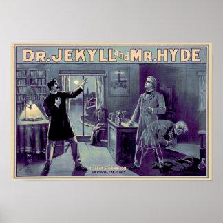 Jek & Hyde Poster - Blue
