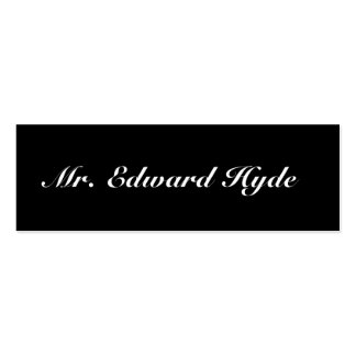 Jekyll / Hyde, 2 sided calling card Double-Sided Mini Business Cards (Pack Of 20)