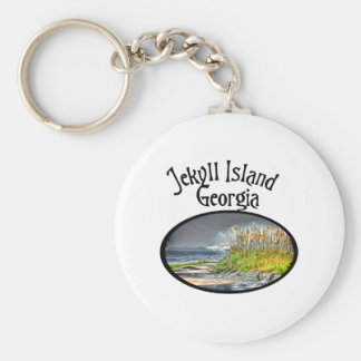 Jekyll Island Basic Round Button Keychain