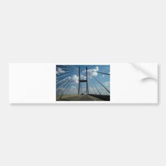 Jekyll Island Cable Bridge Bumper Sticker