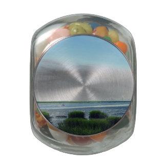 Jekyll Island Dock Glass Jar