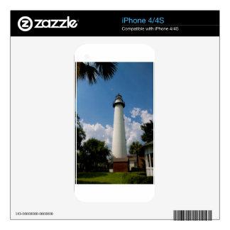 Jekyll Island Georgia Lighthouse iPhone 4S Decals