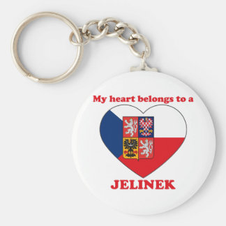 Jelinek Basic Round Button Keychain
