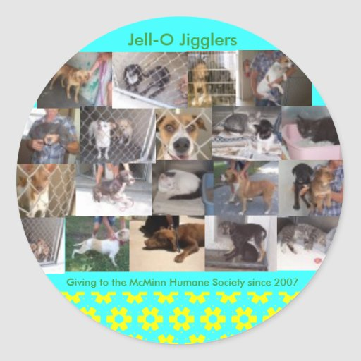 Jell-O  Jigglers Classic Round Sticker