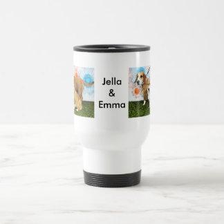Jella = Corgi and Emma = Beagle Basset and Bulldog Travel Mug