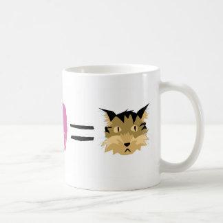 Jello + Amor = gatito Tazas De Café