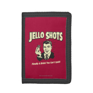Jello Shots: Drink You Can't Spill Trifold Wallet