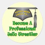 Jello Wrestler Round Stickers