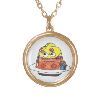Jelly and Cake Round Pendant Necklace