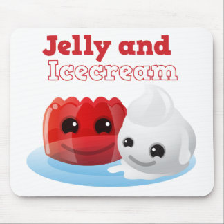 Jelly and icecream mouse pad