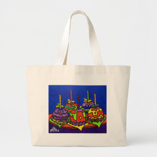 Jelly Apples 2 by Piliero Large Tote Bag