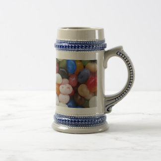 Jelly Bean black blue green Candy Texture Template Beer Stein