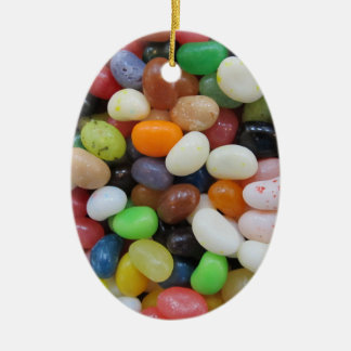Jelly Bean black blue green Candy Texture Template Ceramic Ornament