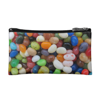 Jelly Bean black blue green Candy Texture Template Cosmetic Bag