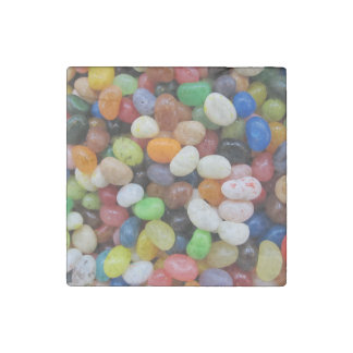 Jelly Bean black blue green Candy Texture Template Stone Magnet