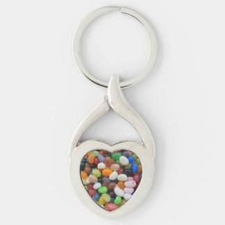 Jelly Bean black blue green Candy Texture Template Keychain