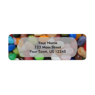 Jelly Bean black blue green Candy Texture Template Return Address Label
