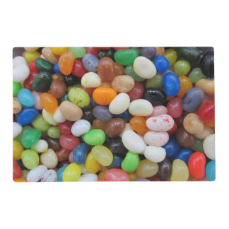 Jelly Bean black blue green Candy Texture Template Laminated Place Mat