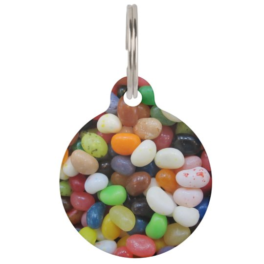 Jelly Bean Black Blue Green Candy Texture Template Pet Name Tag