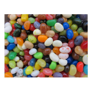 Jelly Bean black blue green Candy Texture Template Postcard