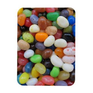 Jelly Bean black blue green Candy Texture Template Rectangular Photo Magnet