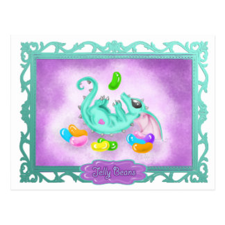 Jelly Bean Candy Dragon Postcard
