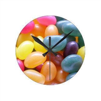 Jelly Bean Round Wall Clocks