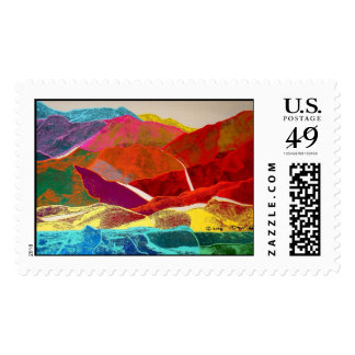 Jelly Bean Desert Postage Stamps