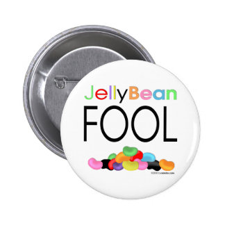 Jelly Bean Fool 2 Inch Round Button