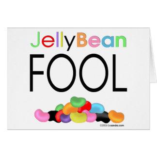 Jelly Bean Fool Greeting Card