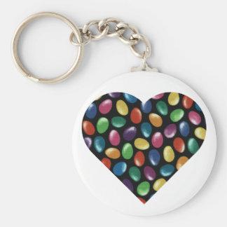 Jelly Bean Heart Keychain